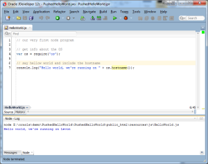 Hello World in JDeveloper