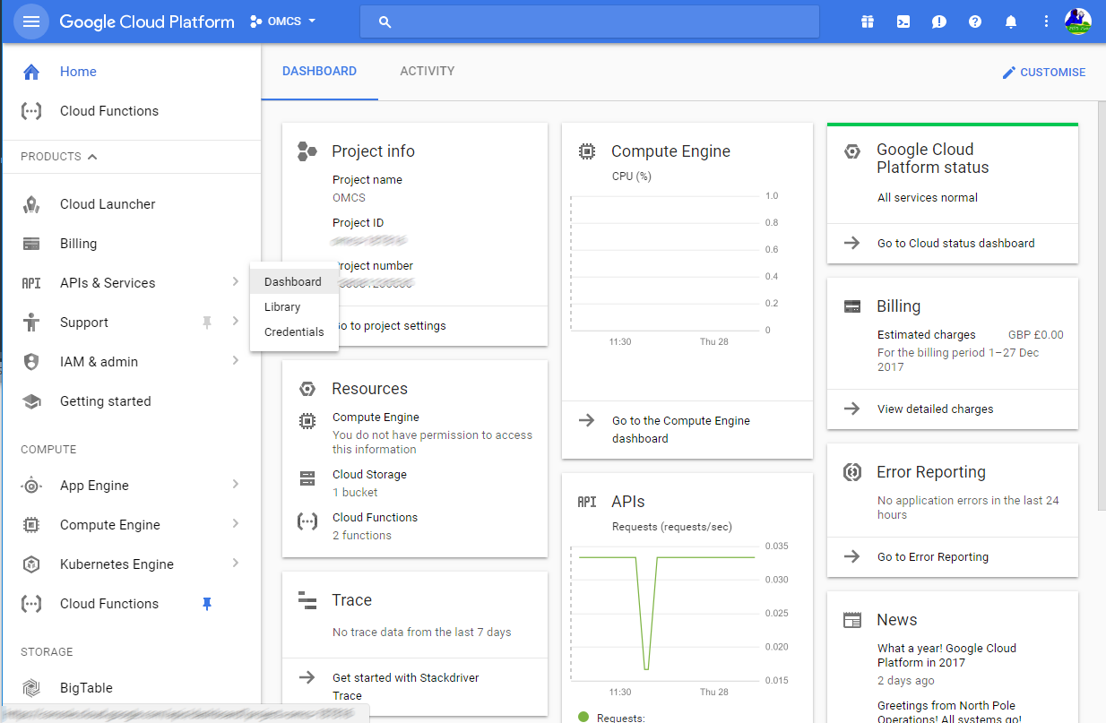 Google CLoud mgmt
