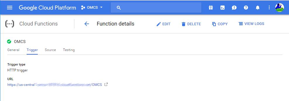Google functions Trigger
