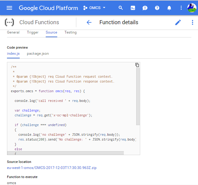 GoogleCloud-OMCS
